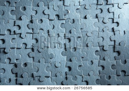 the texture of the solved jigsaw puzzle