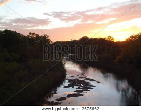 Colorful Creek Sunset
