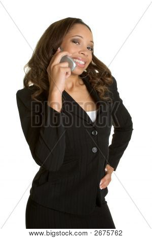 African American Phone Woman