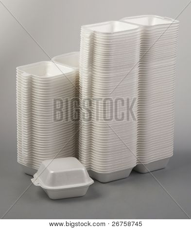 Styrofoam meal box.