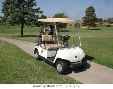 Golf Cart On The Path