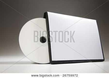 blank cd cover on the palin background