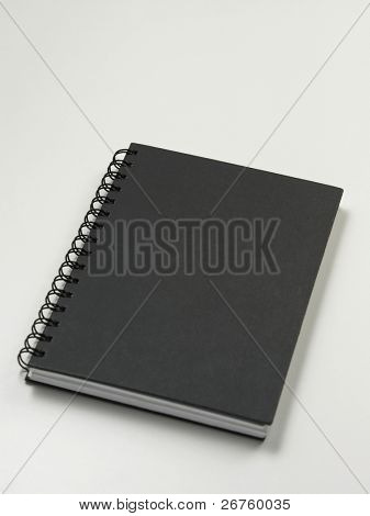spiral notebook on the white background