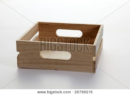 stock image of the Empty crate isolated on plain background