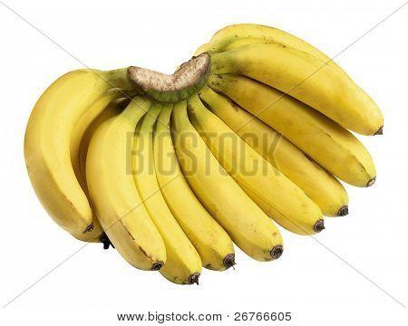 Bananas isolatd on white background.