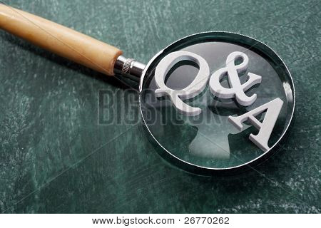 stock image of the question and answer concept