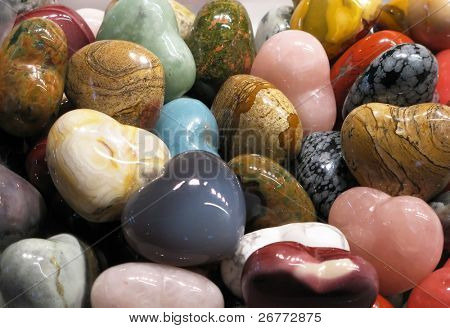 Set of colorful semiprecious stones