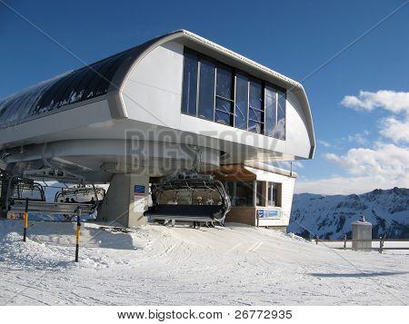 Upper station of the ski chairlift