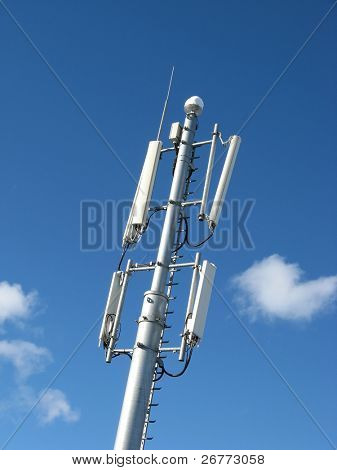 GSM Antenna against blue sky