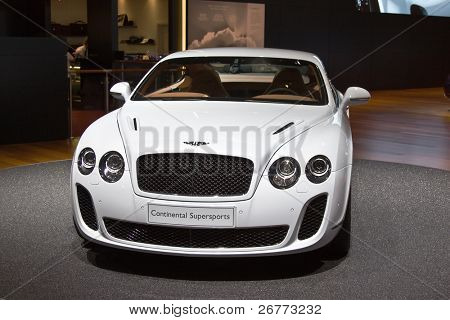 GENEVA - MARCH 7:  Bentley Continental Supersport on display at the 79th International Motor Show Palexpo-Geneva on March 7, 2009.