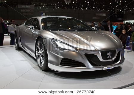 GENEVA - MARCH 7: Peugeot Hybrid RC4 on display at the 79th International Motor Show Palexpo-Geneva on March 7; 2009.
