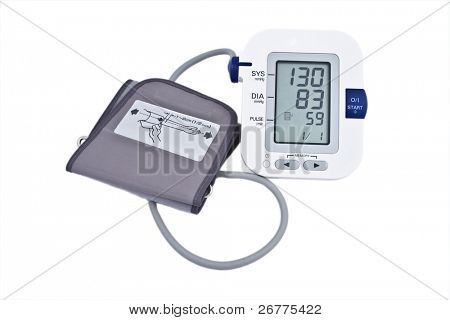 Blood pressure measurement device on the white