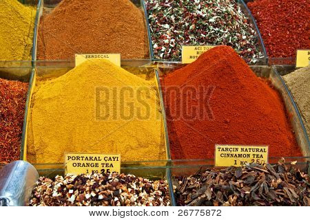Spice(Egyptian) market in Istanbul, Turkey