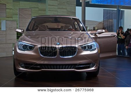 GENEVA - MARCH 7: New BMW 5 on display at the 79th International Motor Show Palexpo-Geneva on March 7, 2009 in Geneva.
