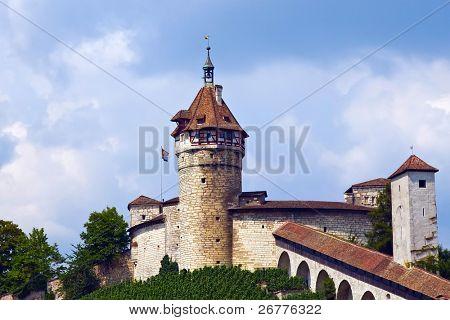 Munot fortification surrounded by vineyard (Schaffhausen, Switzerland)