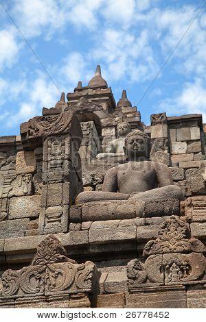 Borobudur temple near Jogyakarta on Java island, Indonesia