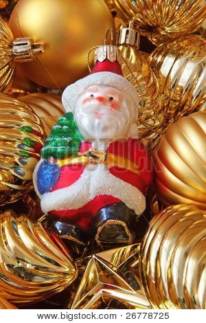 Fragment of the Christmas tree decoration