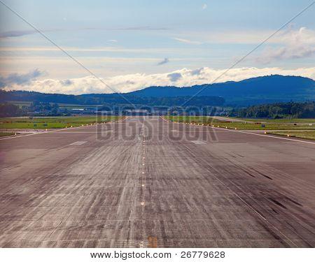 Runway of the Zurich international airport