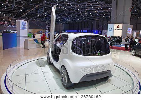 Genebra - 8 de março: O Tata Pixel concept-car na visualização no 81o International Motor Show Palexpo
