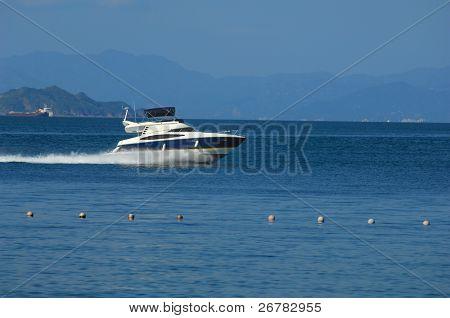 Dream yacht on the blue sea