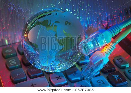 technology earth globe against fiber optic background more in my portfolio