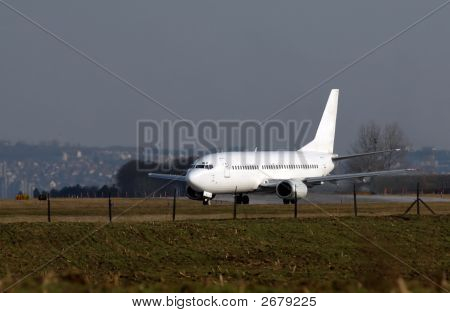 Passenger Airplane On The Runway
