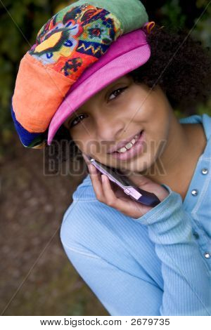 Girl On Cellphone