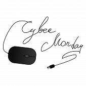 Cyber Monday Concept Icons Design, Vector Illustration. Cyber Monday, Sale, Discount Theme. poster