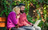Family Surfing Internet For Interesting Content. Couple In Love Notebook Consume Content. Internet S poster