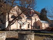 The Patriarchate Of Pec. Serbian Orthodox Monastery From 13th Century Located In Kosovo. Unesco Worl poster