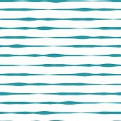 Horizontal Hand Drawn Lines Seamless Vector Background. Teal Hand Drawn Horizontal Strokes In Rows O poster