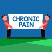 Handwriting Text Chronic Pain. Concept Meaning Pain That Extends Beyond The Expected Period Of Heali poster