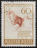HUNGARY - CIRCA 1965: a stamp printed in Hungary celebrates International Renaissance Conference, sh