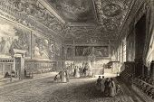 pic of luigi  - Antique illustration of Sala dei Pregadi - JPG