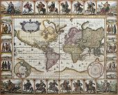stock photo of nicholas  - World old map - JPG