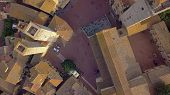 Aerial View. Flight Over A Mediaeval Town Of Fine Towers, San Gimignano, Tuscany, Italy poster