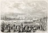 picture of algiers  - Napoleon III and Empress Eugenie landing in Algiers - JPG