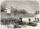 picture of messina  - Battle between Garibaldian army and Nepolitan army in Messina surroundings - JPG