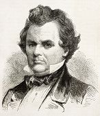 Stephen, Douglas old engraved portrait, Democratic Presidential candidate in 1861. Created by Bayard