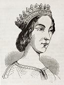 picture of anjou  - Jeanne de Laval old engraved portrait - JPG