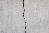 Cracked Concrete Texture, Crack In Stone Wall poster