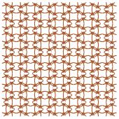 Red-knobbed starfish, Protoreaster linckii, in repeated pattern, in front of white background poster