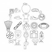 Vitality Icons Set. Outline Set Of 25 Vitality Vector Icons For Web Isolated On White Background poster