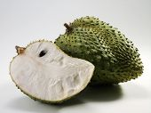sour sop fruit and cuts
