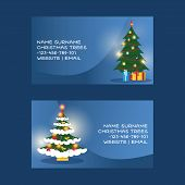 Christmas Business Card Vector Merry Xmas Visiting-card With Christmas-tree And New Year Business-ca poster