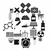 Chemical Composition Icons Set. Simple Set Of 25 Chemical Composition Icons For Web Isolated On Whit poster