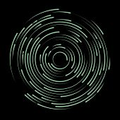 Neon Swirl Shape, Abstract Illustration. Circle Round Neon Lines. Abstract Vortex Trail. poster