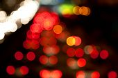 stock photo of traffic light  - Night lights of the big city - JPG