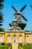 The Historic Mill And The New Chambers At Sanssouci In Potsdam - Brandenburg, Germany poster