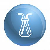 Chemical Glass Pipette Icon. Simple Illustration Of Chemical Glass Pipette Vector Icon For Web Desig poster